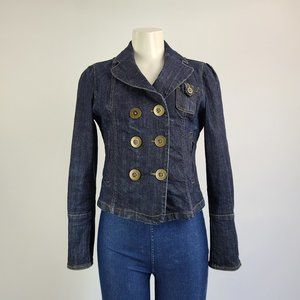 Tristan & Iseut Denim Blazer Jacket Size M